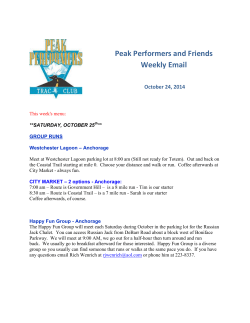 Peak Performers and Friends Weekly Email  October 24, 2014