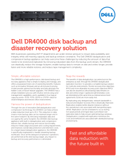 Dell DR4000 disk backup and disaster recovery solution