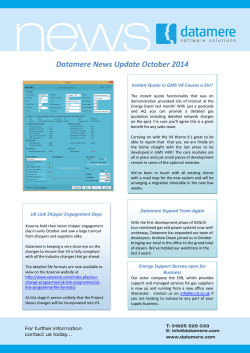 Datamere News Update October 2014