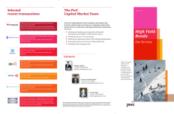 The PwC Selected Capital Market Team recent transactions