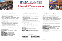 Shipping 2.0: The new Normal