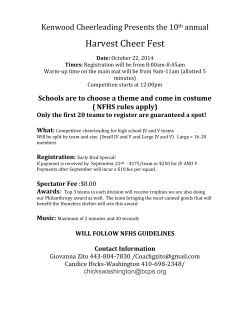 Harvest Cheer Fest Kenwood Cheerleading Presents the 10 annual