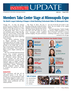 UPDATE Members Take Center Stage at Minneapolis Expo