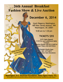 26th Annual  Breakfast Fashion Show & Live Auction December 6, 2014