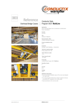 Reference Conductor Rails, MultiLine Program 0831