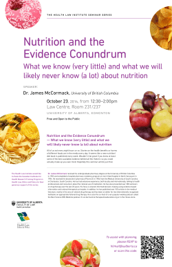 Nutrition and the Evidence Conundrum
