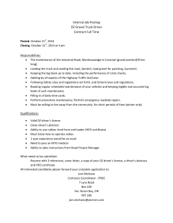 Internal Job Posting DZ Gravel Truck Driver Contract Full Time