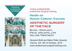 AESTHETIC SURGERY OF THE FACE Rhino - Otoplasty, Facial Implants, Lips