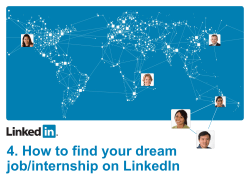 4. How to find your dream job/internship on LinkedIn