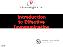 Introduction to Effective Communication © 2006