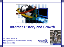 Internet History and Growth William F. Slater, III September 2002