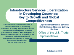 Infrastructure Services Liberalization in Developing Countries: Key to Growth and Global Competitiveness