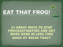 21 GREAT WAYS TO STOP PROCRASTINATING AND GET BOOK BY BRIAN TRACY