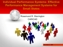 Improving Individual Performance Systems: Effective Performance Management Systems for Small States