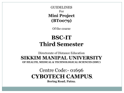 BSC-IT Third Semester CYBOTECH CAMPUS SIKKIM MANIPAL UNIVERSITY