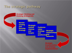 Market sensing Strategic and