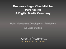 Business Legal Checklist for Purchasing A Digital Media Company