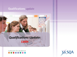 Qualifications Update: Latin