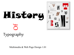 History Of Typography Multimedia & Web Page Design 1.01