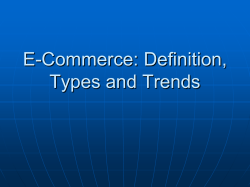 E-Commerce: Definition, Types and Trends