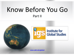 Know Before You Go Part II www.udel.edu/global
