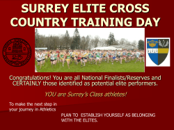 SURREY ELITE CROSS COUNTRY TRAINING DAY