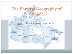 The Physical Geography of Canada