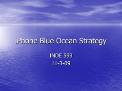 iPhone Blue Ocean Strategy INDE 599 11-3-09