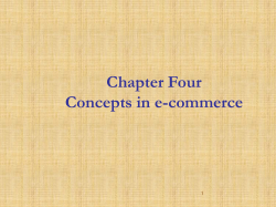 Chapter Four Concepts in e-commerce 1