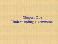 Chapter One Understanding e-commerce 1-1