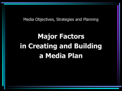 Major Factors in Creating and Building a Media Plan