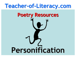 Personification Teacher-of-Literacy.com Poetry Resources