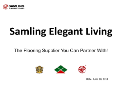 Samling Elegant Living The Flooring Supplier You Can Partner With!
