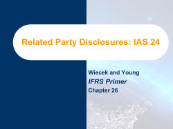 Related Party Disclosures: IAS 24 IFRS Primer Wiecek and Young Chapter 26