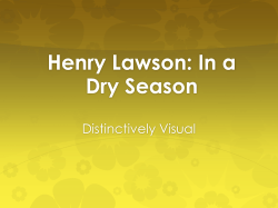 Henry Lawson: In a Dry Season Distinctively Visual