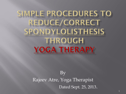 By Rajeev Atre, Yoga Therapist . Dated Sept. 25, 2013