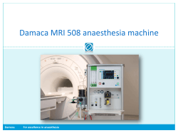 Damaca MRI 508 anaesthesia machine Dameca For excellence in anaesthesia
