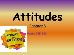 Attitudes Chapter 8 Pages 265-293