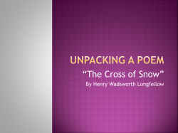 """The Cross of Snow"" By Henry Wadsworth Longfellow"