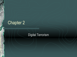 Chapter 2 Digital Terrorism