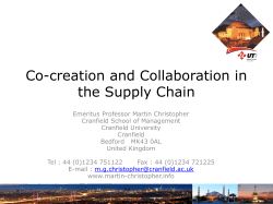 Co-creation and Collaboration in the Supply Chain