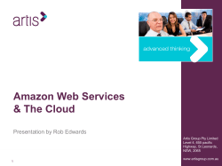 Amazon Web Services & The Cloud Presentation by Rob Edwards