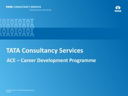 TATA Consultancy Services ACE – Career Development Programme 1