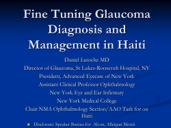 Fine Tuning Glaucoma Diagnosis and Management in Haiti