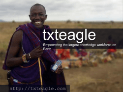 txteagle  Empowering the largest knowledge workforce on Earth.