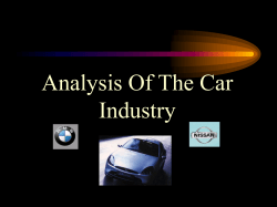 Analysis Of The Car Industry