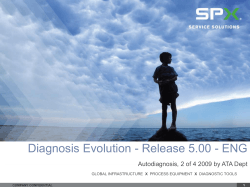 Diagnosis Evolution - Release 5.00 - ENG presentation template brand guidelines