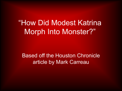 """How Did Modest Katrina Morph Into Monster?"" Based off the Houston Chronicle"