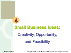 4 Small Business Ideas: Creativity, Opportunity, and Feasibility