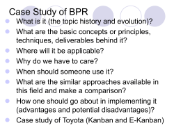 Case Study of BPR